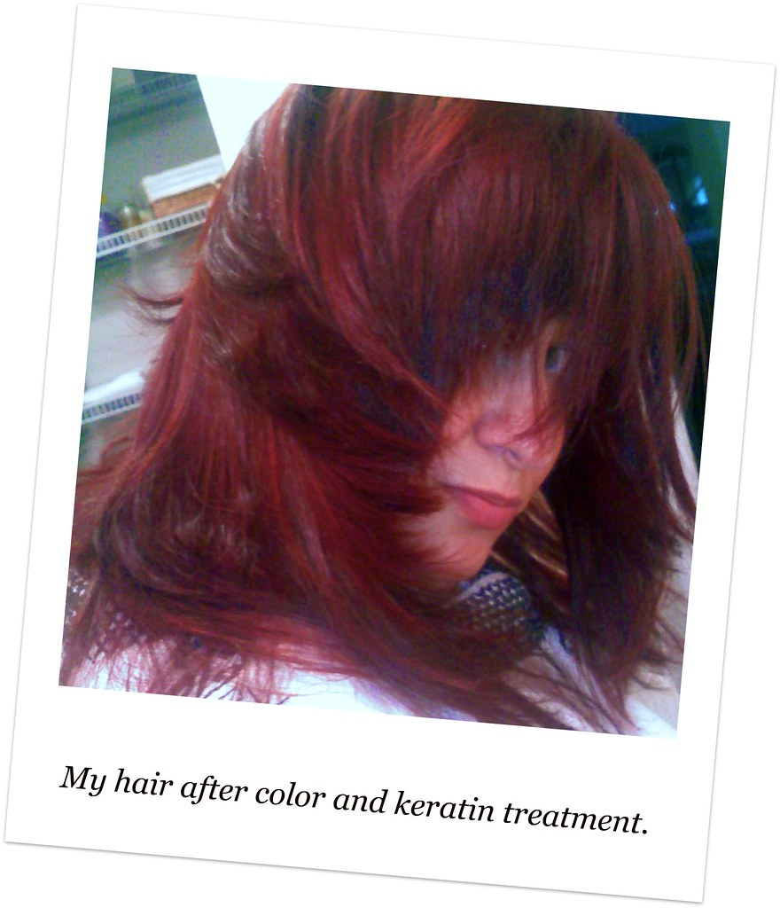 My Hair After Keratin Treatment And Color