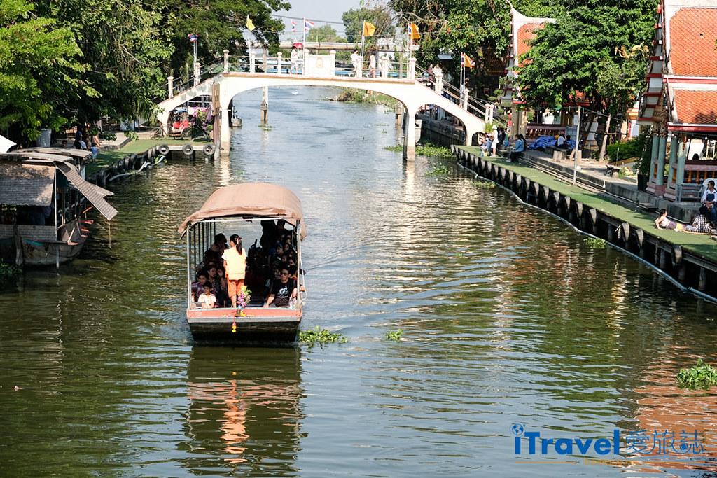《曼谷景点推荐》关瑞安水上市场:体验传统泰式文化风情