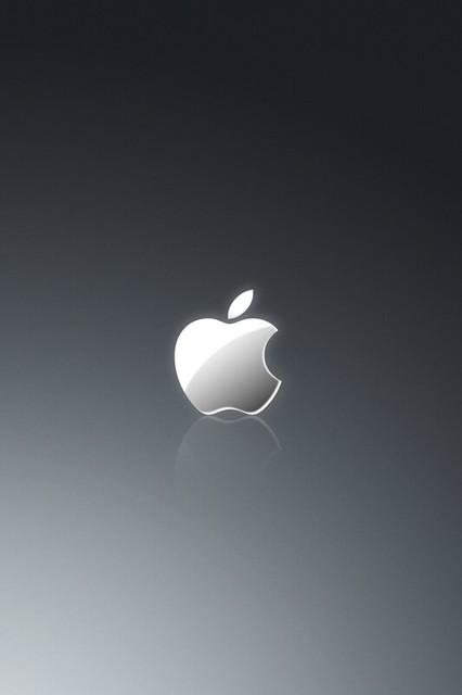 Apple Iphone 3d Wallpaper Apple Grey Wallpaper Ios4 Retina Display Flickr