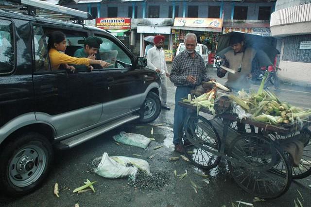 Rain or Heat, I have to earn. Bhimtal, Uttarakhand, India