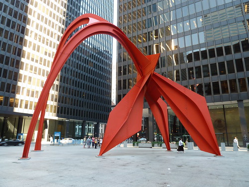 Calder Flamingos - Federal Plaza - Chicago