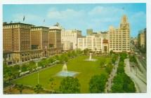 Pershing Sq And Biltmore Hotel Los Angeles Ca Postcard 1