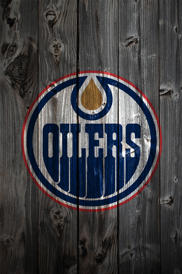Edmonton Oilers Iphone Wallpaper Edmonton Oilers Wood Iphone 4 Background A Photo On