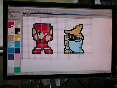 Final Fantasy plastic canvas pattern