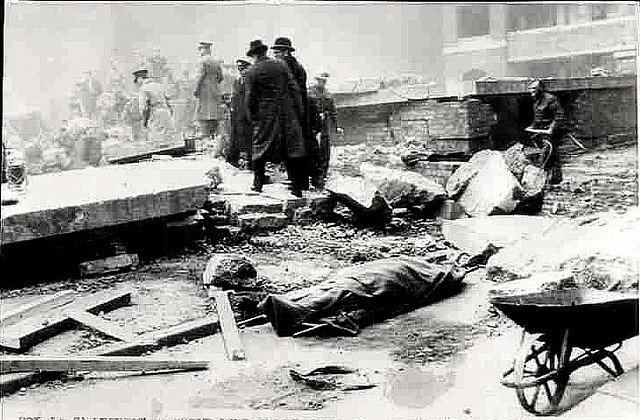 Liverpool 1941 Aerial Damage Photo  Rescuers at a bomb Site  Flickr  Photo Sharing