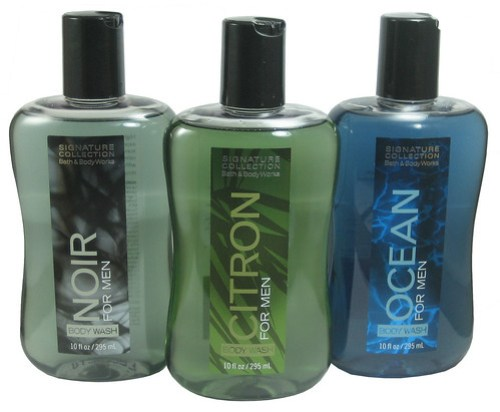 Bath & Body Works Signature Collection Body Wash for Men (Noir, Citron and Ocean)