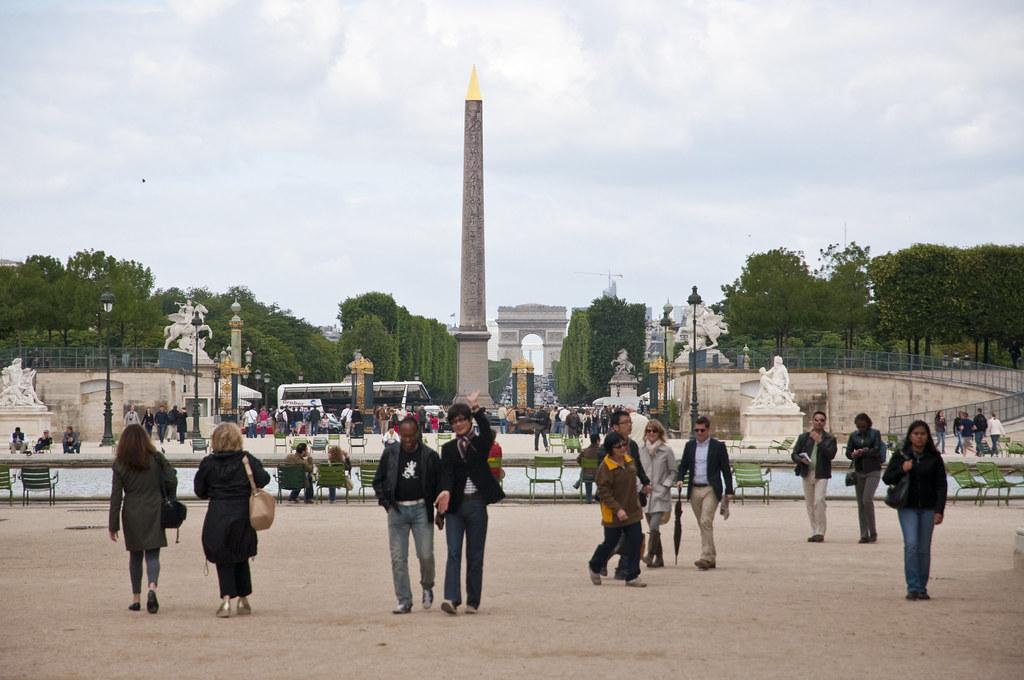 The Obelisk and Arc de Triomphe