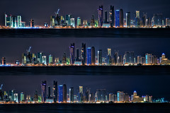 Doha Night Skyline