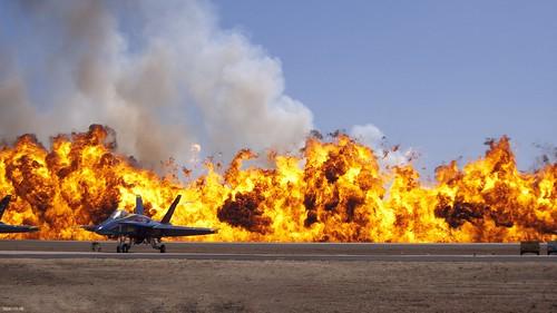 1080 HD wallpaper:  Airshow fireball