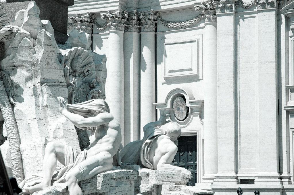 Sculptures on the Fontana dei Quattro Fiumi