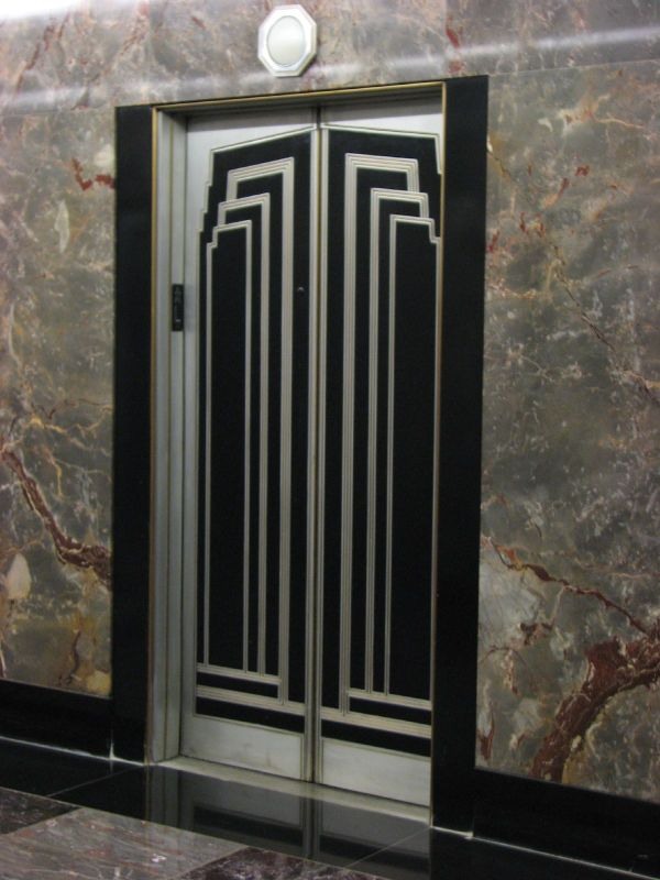 Art Deco of the Empire State Building Elevator Doors