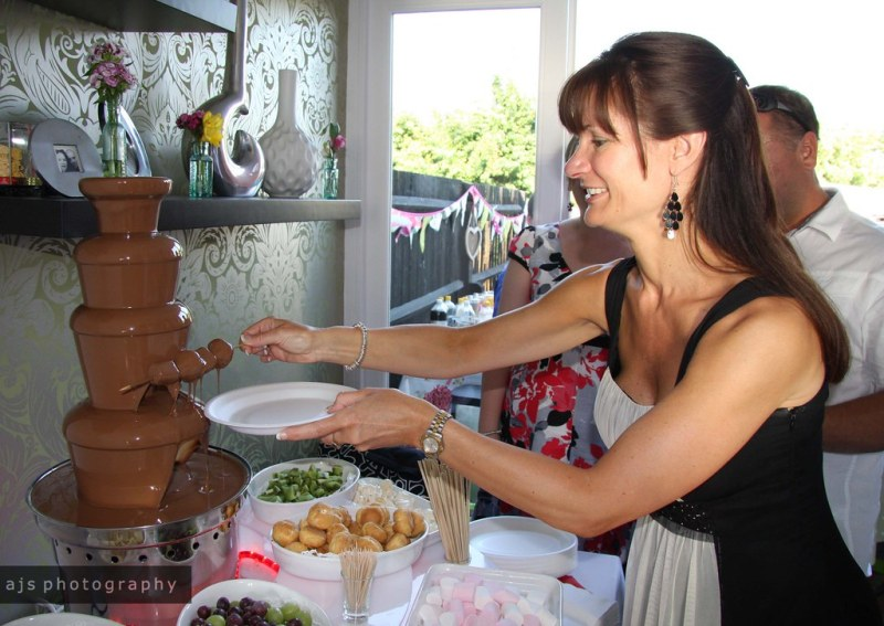 big day | chocolate fountain