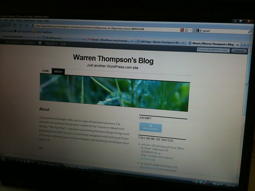 Warren's first ever blog