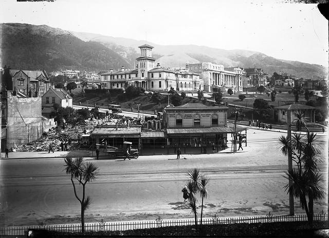 Corner of Bowen Street and Lambton Quay, circa 1929