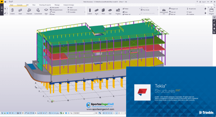 Design with Tekla Structures v2017 SP1 full