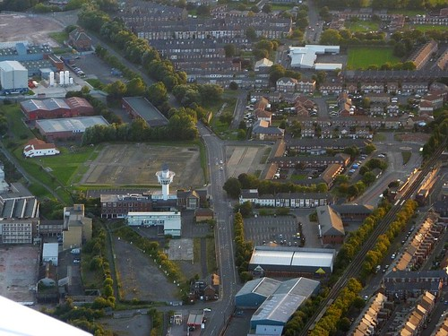 Wallsend and Wall Mile 0 from the air