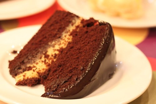 Molten chocolate cake at Calea's