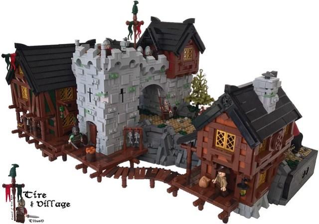LEGO Castle : des pierres et du bois