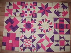 Round Robin Blocks - EB Newbie Quilters