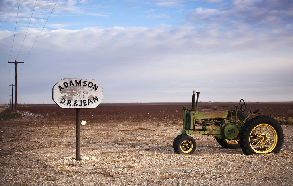 Tractor - Texas Cotton Farm - West Texas