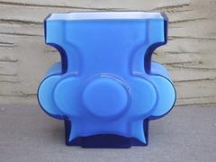 Vintage Alstefors Cased Blue Scandinavian Designed Glass Mid Century Modern