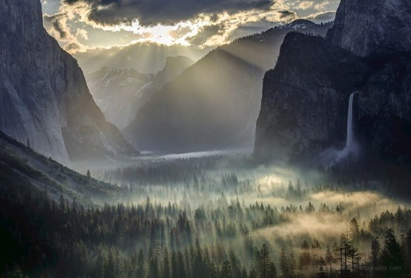 Light Rays On Morning Fog