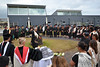 """Students gather at the center of the Hawai'i Community College–Pālamanui for a ceremony and to have kīhei tied on prior to commencement on Saturday, May 13, 2017.  View more photos: <a href=""""https://www.flickr.com/photos/53092216@N07/sets/72157681108098012"""">www.flickr.com/photos/53092216@N07/sets/72157681108098012</a>"""