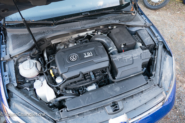 MK7 Golf R Engine Bay Cleaning (Before)