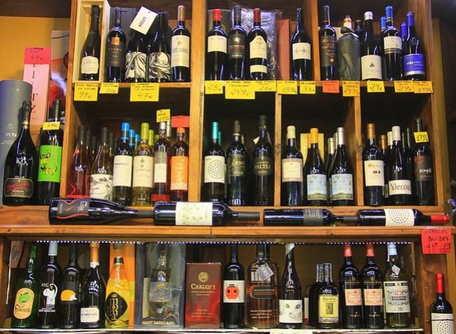 Wine store at Girona Food Market