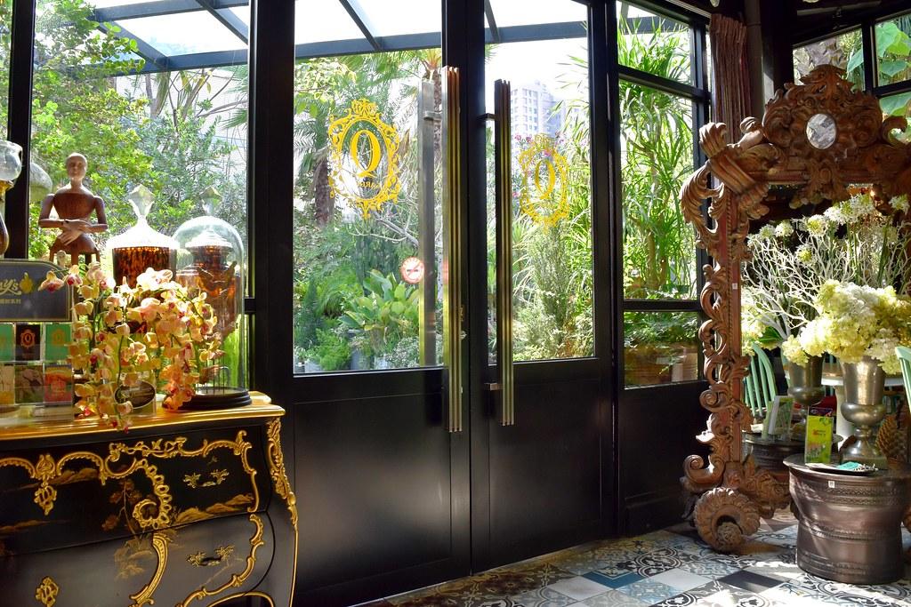 高雄 置身異國花園裡的玻璃屋#Q Garden 季節義法料理 / 莊園手工咖啡 / 進口傢俱傢飾#最美的歐洲家具咖啡 ...