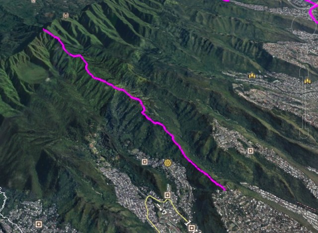 Lanipo Trail on Google Earth