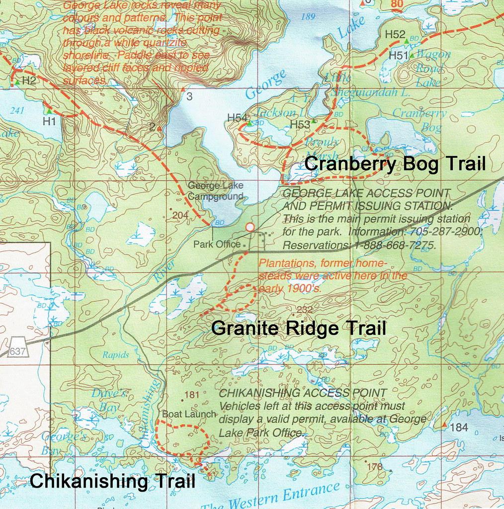 Killarney Day Trails Map