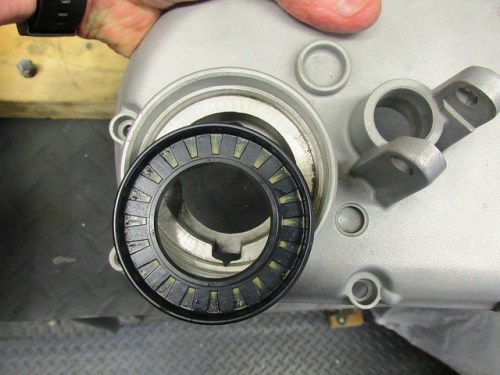 Output Shaft Seal Removed Showing Correct Orientation