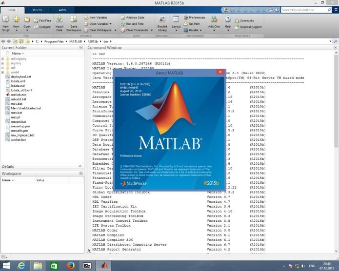 Mathworks Matlab R2015b 32bit 64bit full crack 100%