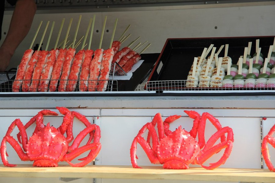 brochettes crabes osaka