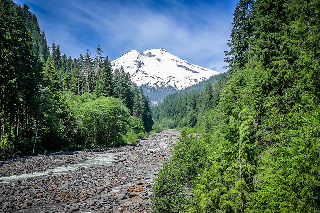 Mount Baker over Bear Creek