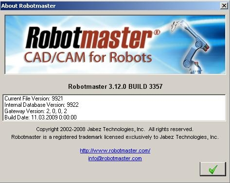 Robotmaster for MasterCam X3