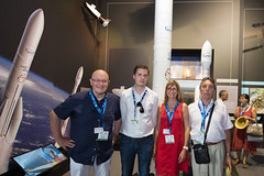 Community of Ariane Cities members at the ESA pavilion