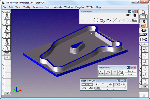 Machining with GibbsCam 2010 v9.5.1 full license