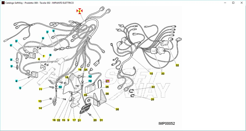 Wiring Unit Cables Injection for Ducati 996 Rs 2000 Code