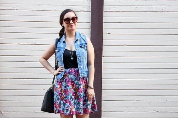 How to wear a denim vest | Shades of Sarah