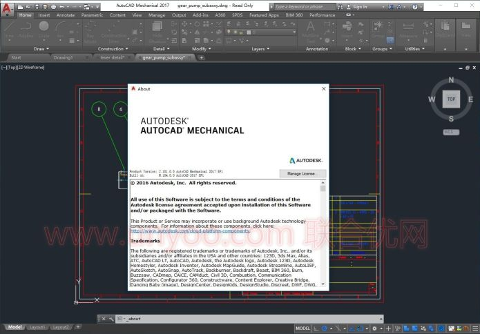 Working with AutoCAD Mechanical 2017 SP1 x86-x64 full license