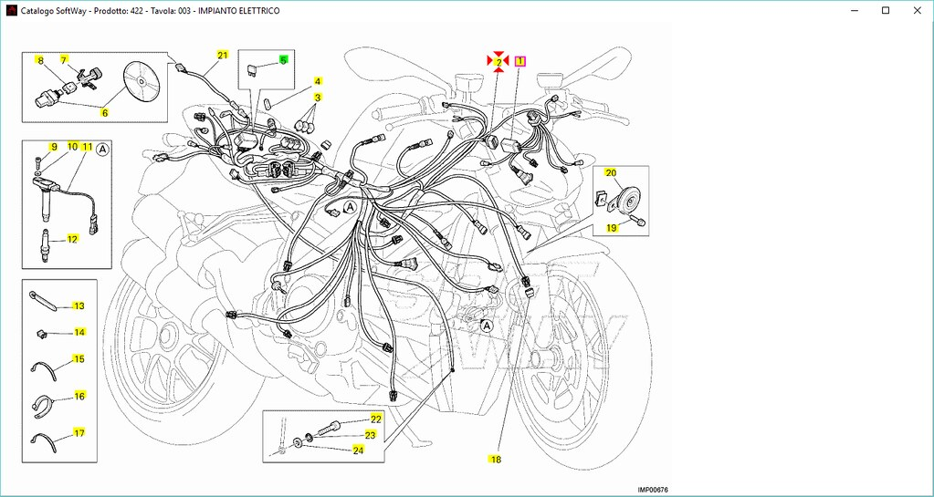 Wiring Main Installation Elec. for Ducati Streetfighter
