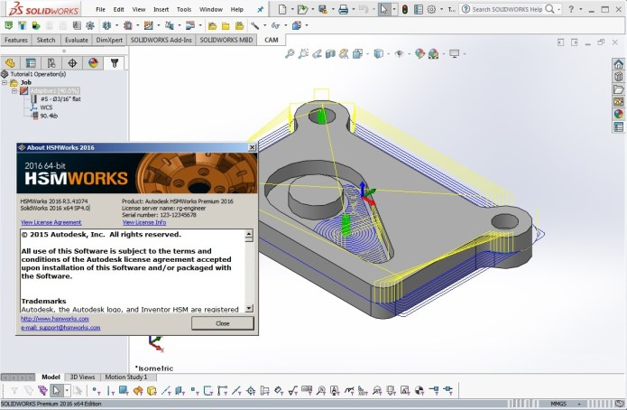Machining with Autodesk HSMWorks 2016 R3.41074 for SolidWorks 2010 - 2016
