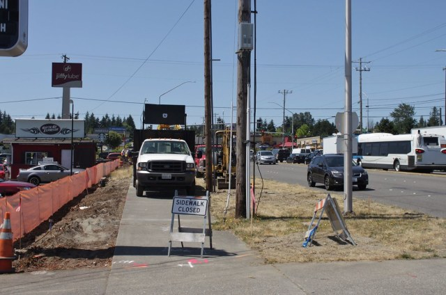 Swift Green Line utility relocation on 128th