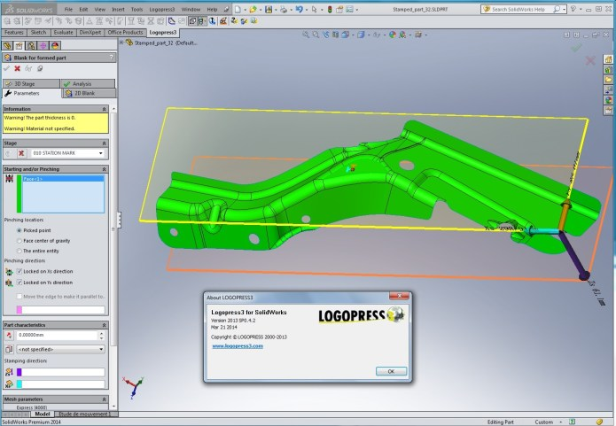 Design with Logopress3 2013 SP 0.4.2 for SolidWorks 2012-2014 x86+x64 full