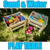 WOODEN SAND & WATER SANDPIT PLAY TABLE GARDEN KIDS INDOOR ...