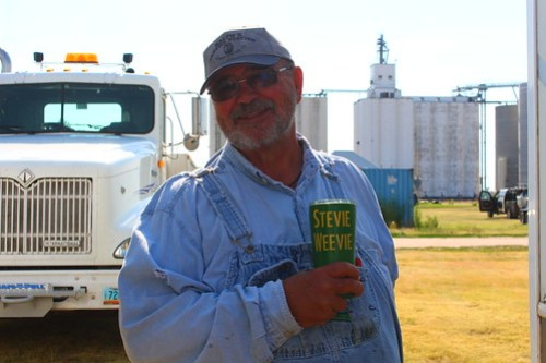 """Uncle Steve with his famous """"Stevie Weevie"""" coffee cup."""