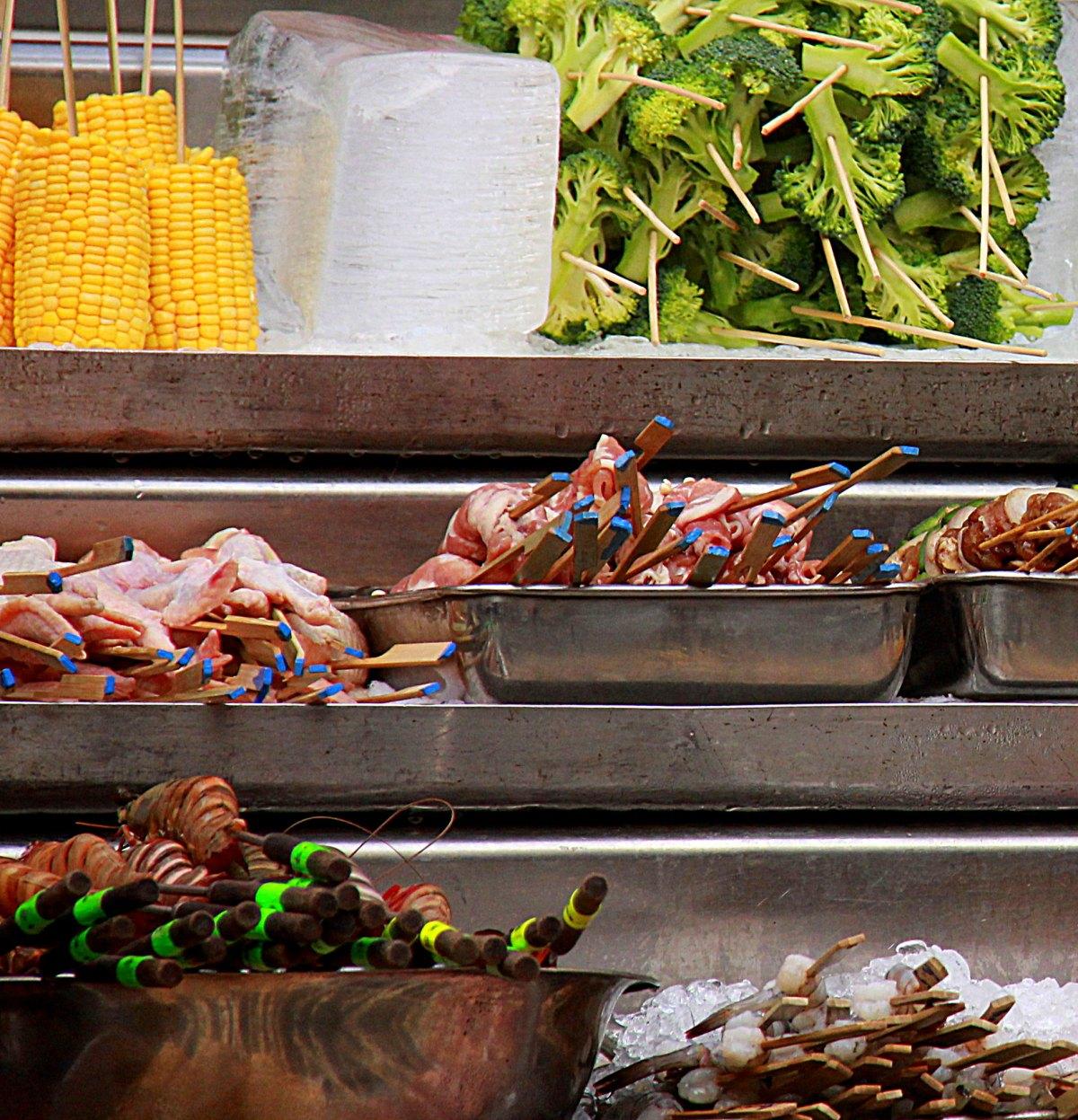 Street food in Kuala Lumpur Chinatown