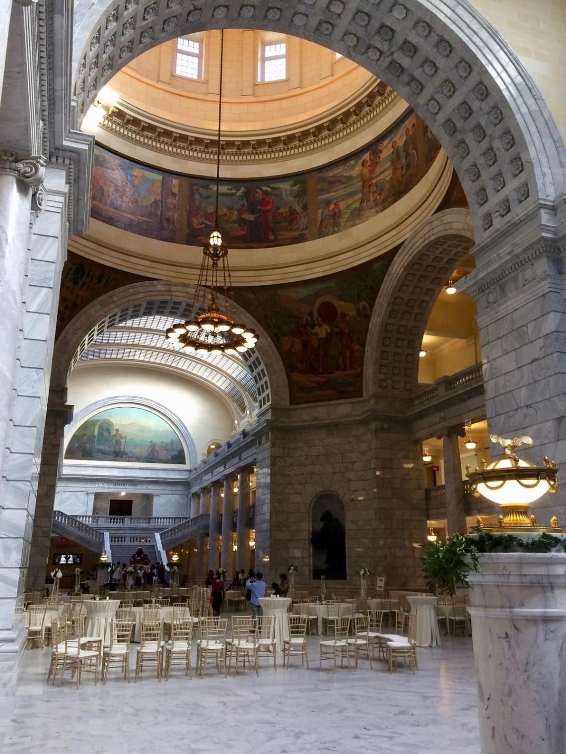 Under the Rotunda at the Utah State Capitol